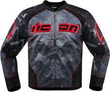 Icon Red/Black Mens Overlord Reaver Motorcycle Jacket