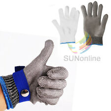 Safety Cut Proof Stab Resistant Stainless Steel Metal Mesh Butcher Glove M-2XL
