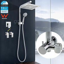 "WELS 9"" Shower Head Rose Diverter Wall Arm 5 Functions Handheld Head Mixer Tap"