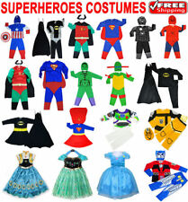 NEW SIZE 1-12 KIDS DRESS UP COSTUME SUPERHERO PARTY OUTFIT GIRL BATMAN IRONMAN
