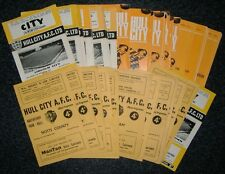 Hull City Programmes 1960-1970 **FREE POSTAGE IN UK**