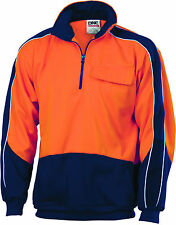 NEW HUNTERS 1866 HiVis Two Tone 1/2 Zip Hi-Neck Panel Fleecy Windcheater
