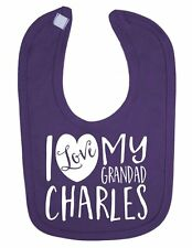 Personalised with ANY NAME I Love my Grandad Cute Newborn Toddler Baby Bib