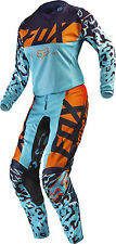 Fox Racing Womens Aqua Blue/Orange/Purple 180 Dirt Bike Jersey & Pants Kit Combo
