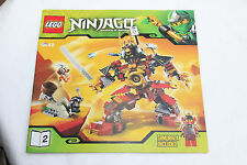 Lego  Ninjago 9448 SAMURAI MECH Instruction Book 2 ONLY NO BRICKS