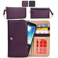 Slim Smart-Phone Protective Wallet Case Cover with Zipper Coin Pouch ESX63