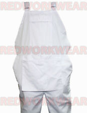 WHITE BIB AND BRACE OVERALLS