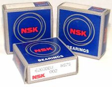 NSK 6000 6200 2RS SERIES GENUINE NSK DOUBLE RUBBER SEALED BALL BEARINGS DDU