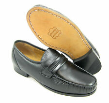 CLIMATE X 21592-4 WIDE WIDTH MEN'S BLACK SLIP ON LOAFERS LEATHER DRESS SHOES