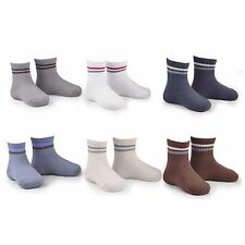 Naartjie Boys Sports Crew Socks Rib Stripe 6 Pairs Pack NWT