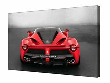 Red La Ferrari Super Car Pictures ~ Canvas Wall Art Picture Print Framed + Sizes
