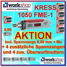KRESS 1050 FME-1 1050FME-1 Milling motor with 5 Welding tongs + Nuts / Year 2016