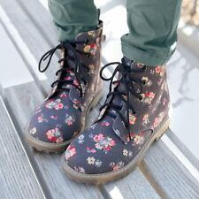 La Redoute Girls Printed Lace-Up Ankle Boots