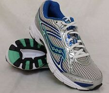 New! Womens Saucony COHESION 7 Athletic Running Shoes in Silver/Blue 151815 B46