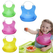 Lovely Baby Infant Kids Silicone Bib Baby Lunch Waterproof Bibs Pick Rice Pocket