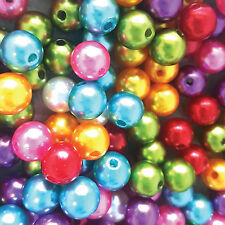 300 pcs Glass Pearl Beads round loose beads Assorted Sizes and color(10mm/12mm)