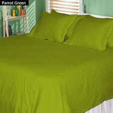 "Parrot Green 1000 TC,100% Egyptian Cotton 4 PC Sheet Set With 28""Deep Pocket"
