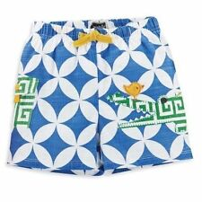 Mud Pie Safari Baby Toddler Boy Blue And White Alligator Swim Trunks 1022102