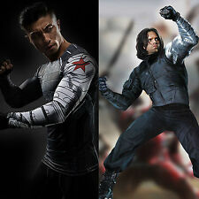 Captain America Winter Soldier James Buchanan Barnes Bucky Long Sleeves T shirt