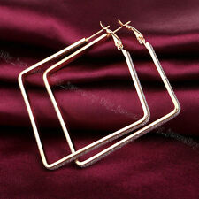Charm Fashion Jewelry Rhinestone Crystal Square Circle Hook Hoop Earrings Party