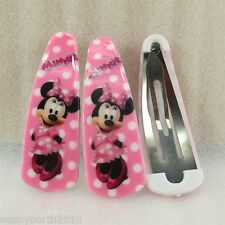 DISNEY MINNIE MICKEY MOUSE SNAP HAIR CLIPS PARTY LOOT FAVOURS FIGURES 2pc or 1pr