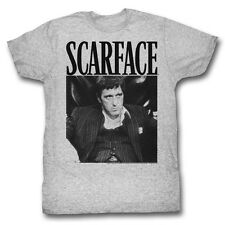 Scarface T-Shirt Stripped Suit Athletic Heather T-Shirt