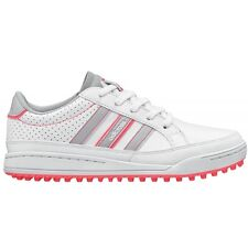 NEW JUNIOR'S ADIDAS ADICROSS IV GOLF SHOES WHITE/RED Q44533 - PICK YOUR SIZE