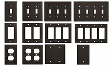 Light Gloss Brown Metal Wall Plate Covers Switch Plates & Outlet Covers