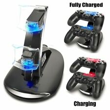Led Dual Controller Charger Dock Station Stand Charging For PS4 Playstation MJ
