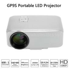 GP9S Full HD 1080P LED Projector Home Theater Cinema Multimedia HDMI USB VGA TV