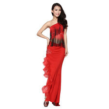 Latin Dance Dress Swallowtail Ballroom Skirt Standard Prom Wear