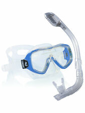 Cressi Kids Dry Snorkeling Set: Silicone mask with dry snorkel