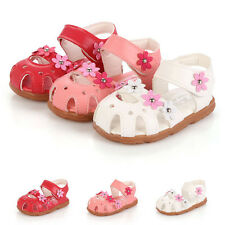 Summer Kids Girls Baby Princess Flowers Shoes Soft Flat Pumps Sandals