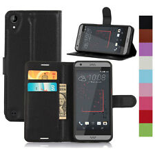Luxury PU Leather Card Pouch Stand Flip Wallet Case Cover For HTC Series Model