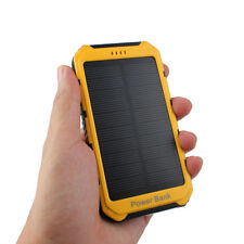18000mAh Solar Panel 2A 1A Battery Power Bank External Portable Phone Charger WR