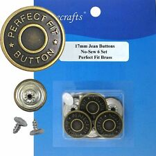 17 mm No-Sew Fine Jean Tack 6 Buttons
