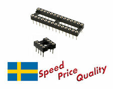 Turned Pin IC Socket DIL DIP 8-14-16-18-20-24-28 Pin - Fast Delivery