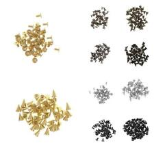 50 Set Screwback Cone Nailhead Stud Spikes Shoes Bag Leathercraft Clothes Rivets