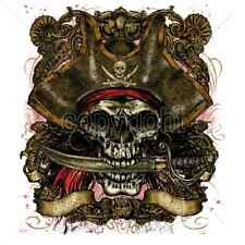 Pirate Captain Skull & Knife T Shirt & Tank Tops All Sizes & Colors (892)