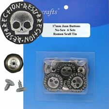 17 mm No-Sew Collection Jean Tack 6 Buttons