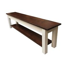 1776 Bench with Shelf (Storage / Shoe rack / Mudroom / Entry Bench)