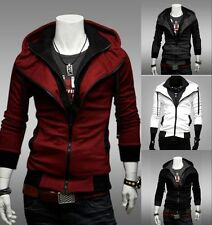 Stylish Creed Hoodie Cool Slim men's Cosplay For Assassins Jacket Costume Coat