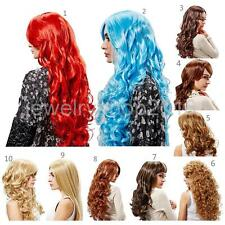 Hot Long Curly Wavy synthetic Cosplay Wig Women Fashion Hair