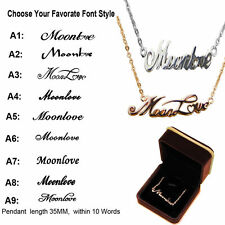 Plated-18K Gold/925Silver Personalized Name Custom Necklace Chain Jewellery Gift