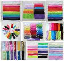 lot Baby Head band Crochet Hairband Lace Headwear Elastic Stretchy headbands