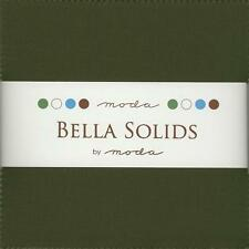 Bella Solids Pine Charm Pack by Moda, 42 5-inch Precut Fabric Squares 9900PP-43