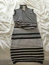 Lipsy Michelle Keegan Stripe Sleeveless Dress Brand New With Tags Size 8 RRP £38