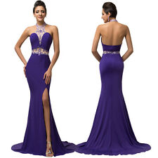 High Split Halter Prom Party Dress Formal Evening Pageant Wedding Gown Ball New