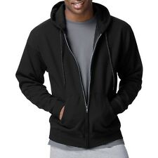 Hanes Men's ComfortBlend EcoSmart Fleece Full Zip Hood. Shipping is Free