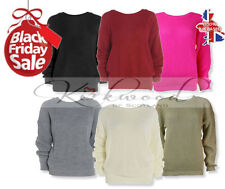 Ladies Womens Oversized Baggy Knitted Jumper Chunky Sweater Plus Size Pullover